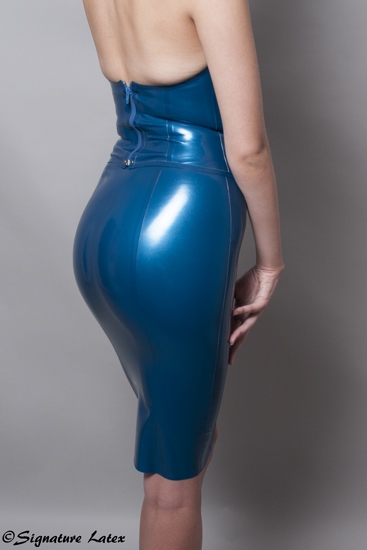 Latex Pencil Skirt With A Choice Of Length S
